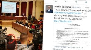 Wojewoda publikuje uchwałę o referendum, politycy PO się cieszą