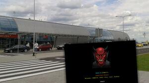 Diabeł na stronie lotniska w Modlinie. To atak hakerów