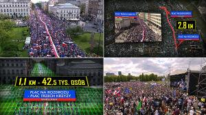 """Nawet 100 tys. na ulicach stolicy. """"Fakty"""" policzyły demonstrantów"""