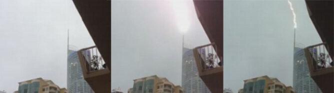 Piorun trafił w jeden z najwyższych budynków mieszkalnych na świecie