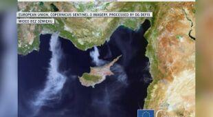 Pożar w Turcji. Zdjęcie satelitarne